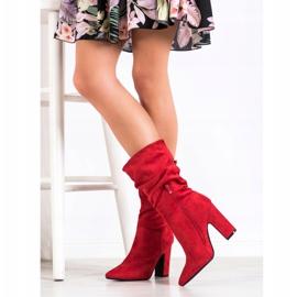 Sweet Shoes Krótkie Czerwone Kozaczki 2