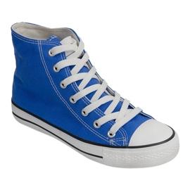 Wysokie Trampki Konwers 8222 Niebieski niebieskie 1