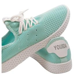 Zielone obuwie sportowe wsuwane H935-6 2