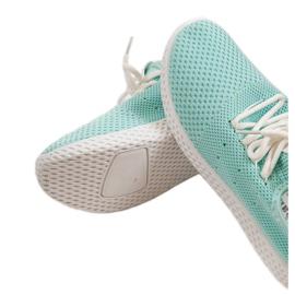 Zielone obuwie sportowe wsuwane H935-6 3
