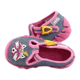 Befado obuwie dziecięce 110P395 różowe szare 5