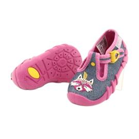 Befado obuwie dziecięce 110P395 różowe szare 4