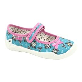 Befado obuwie dziecięce 114X427 niebieskie różowe 1