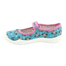 Befado obuwie dziecięce 114X427 niebieskie różowe 2