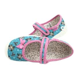 Befado obuwie dziecięce 114X427 niebieskie różowe 4