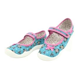 Befado obuwie dziecięce 114X427 niebieskie różowe 3