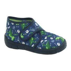 Befado obuwie dziecięce 538P037 niebieskie zielone 1