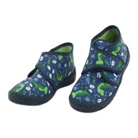 Befado obuwie dziecięce 538P037 niebieskie zielone 3