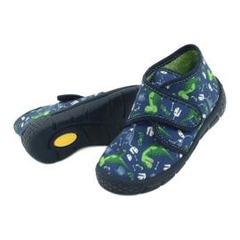 Befado obuwie dziecięce 538P037 niebieskie zielone 4