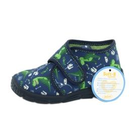 Befado obuwie dziecięce 538P037 niebieskie zielone 6