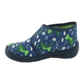 Befado obuwie dziecięce 538P037 niebieskie zielone 2
