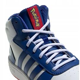 Buty adidas Hoops Mid 2.0 Jr FW3167 białe niebieskie 2