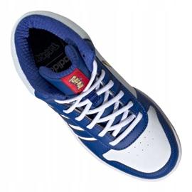 Buty adidas Hoops Mid 2.0 Jr FW3167 białe niebieskie 3