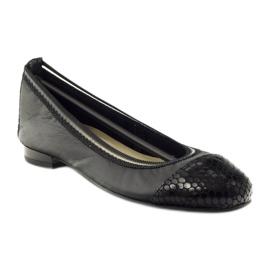 Balerinki damskie gumka Gamis 1402 czarne 1