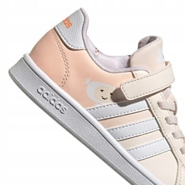 Buty dla dzieci adidas Grand Court C różowe FW4937 3