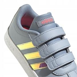 Buty dla dzieci adidas Vl Court 2.0 Cmf szare FW4958 4