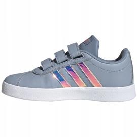 Buty dla dzieci adidas Vl Court 2.0 Cmf szare FW4958 1