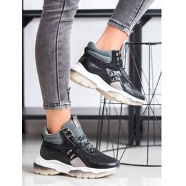 SHELOVET Czarne Sneakersy Fashion wielokolorowe 2