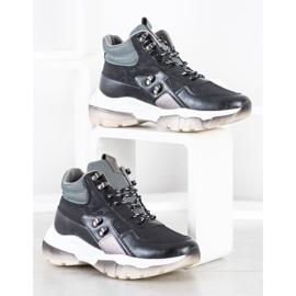 SHELOVET Czarne Sneakersy Fashion wielokolorowe 3