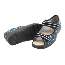 Befado obuwie dziecięce  869Y143 czarne niebieskie szare 4
