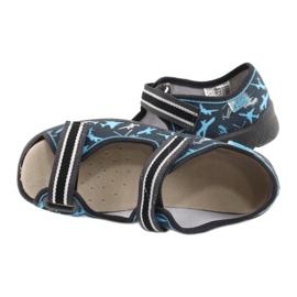 Befado obuwie dziecięce  869Y143 czarne niebieskie szare 5