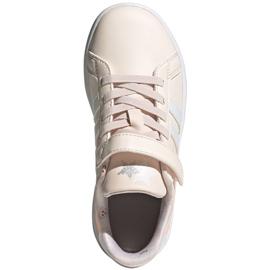 Buty adidas Grand Court C Jr FW4937 ecru różowe 1