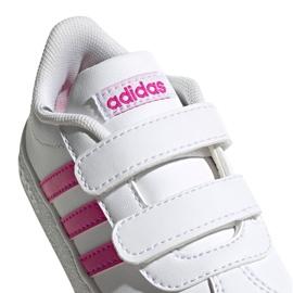 Buty adidas Vl Court 2.0 Cmf Jr EG3890 białe różowe 1