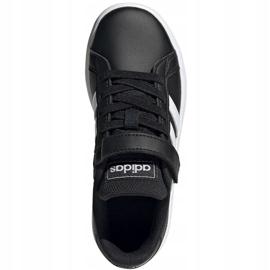 Buty adidas Grand Court C Jr EF0108 białe czarne 1