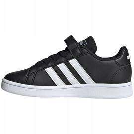 Buty adidas Grand Court C Jr EF0108 białe czarne 2