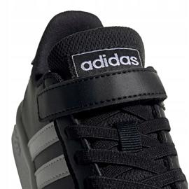 Buty adidas Grand Court C Jr EF0108 białe czarne 3