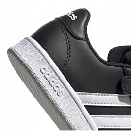 Buty adidas Grand Court C Jr EF0108 białe czarne 4