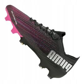 Buty piłkarskie Puma Ultra 1.1 Fg M 106044-03 czarny, czarny, różowy czarne 1