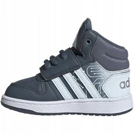 Buty adidas Hoops Mid 2.0 I Jr FW4925 białe szare 1