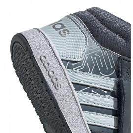 Buty adidas Hoops Mid 2.0 I Jr FW4925 białe szare 3
