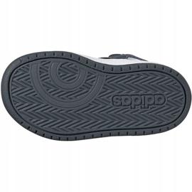 Buty adidas Hoops Mid 2.0 I Jr FW4925 białe szare 5