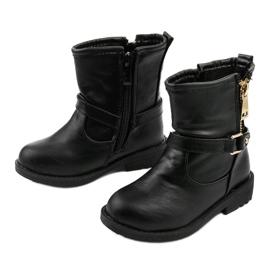 Dziecięce czarne botki dla dziewczynek Jynriane 2