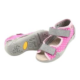 Befado żółte obuwie dziecięce 342P024 różowe szare 4