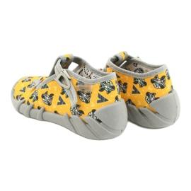 Befado obuwie dziecięce 110P393 szare żółte 5