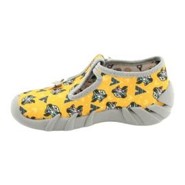 Befado obuwie dziecięce 110P393 szare żółte 2