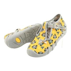 Befado obuwie dziecięce 110P393 szare żółte 4