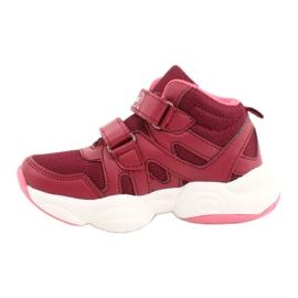 Befado obuwie dziecięce 516Y053 bordowy czerwone 2