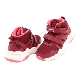 Befado obuwie dziecięce 516Y053 bordowy czerwone 5
