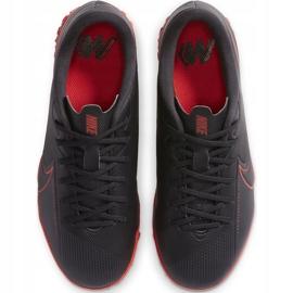 Buty piłkarskie Nike Mercurial Vapor 13 Academy Tf Junior AT8145 060 czarny,czerwony czarne 1