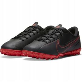 Buty piłkarskie Nike Mercurial Vapor 13 Academy Tf Junior AT8145 060 czarny,czerwony czarne 4