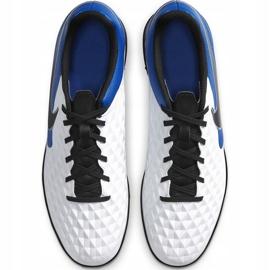 Buty piłkarskie Nike Tiempo Legend 8 Club Tf AT6109 104 biały,niebieski,czarny białe 1