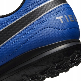 Buty piłkarskie Nike Tiempo Legend 8 Club Tf AT6109 104 biały,niebieski,czarny białe 5