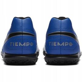 Buty piłkarskie Nike Tiempo Legend 8 Club Tf AT6109 104 biały,niebieski,czarny białe 6