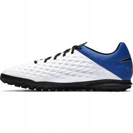 Buty piłkarskie Nike Tiempo Legend 8 Club Tf AT6109 104 biały,niebieski,czarny białe 2