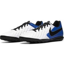Buty piłkarskie Nike Tiempo Legend 8 Club Tf AT6109 104 biały,niebieski,czarny białe 3