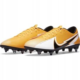 Buty piłkarskie Nike Mercurial Vapor 13 Academy SG-Pro Ac BQ9142 801 pomarańczowe pomarańczowe 3